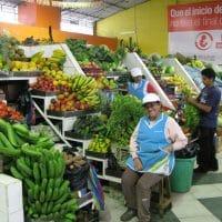 Fruit Stand In Market Ecuador