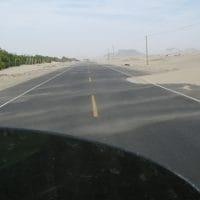 Peru Desert Encroaching Panamerican
