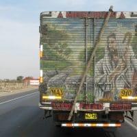 Peru Good Shepherd Mural On Truck