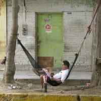 Peru Man In Hammock