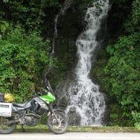 Waterfall And Bike